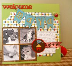 We love this layout that Amy Mitchell created to welcome the new addition to their family! #Cricut