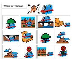 Prepositions-- Thomas, Spiderman, Dora