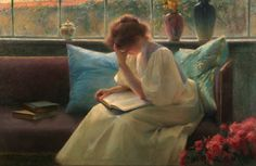 Thoughtful Reader by Franz Dvorak