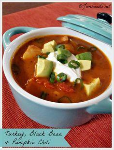 Turkey, Black Bean & Pumpkin Chili (Slow Cooker) at Jam Hands