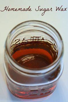 Homemade Sugar Wax Recipe with Sugar, Lemons and Water. No Strips Needed.