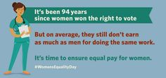 It's time to ensure #EqualPay for women → http://go.wh.gov/dMN7yV  #WomensEqualityDay - The White House #WEmatter
