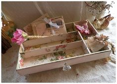 Sweet Reclaimed Vintage Silverware Drawer by rosepetalsandblooms, $49.00