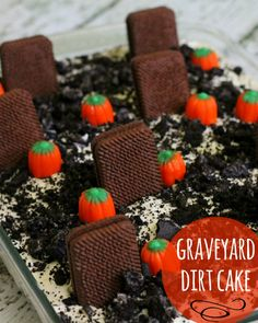 Graveyard Dirt Cake! Perfect dessert for Halloween! { lilluna.com }