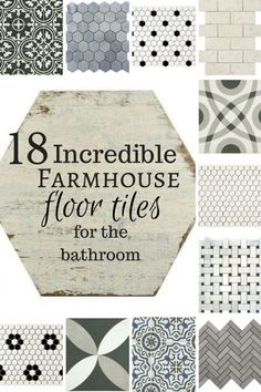 18 Incredible farmhouse floor tiles for the bathroom! Oh my! If I could have all???