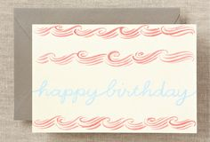 S/6 Letterpress Birthday Notecards on One Kings Lane today