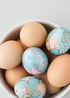 Easter DIY // Graffiti Eggs