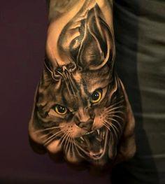 #tattoo #inked #cat