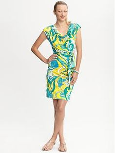 Trina Turk Swirl cowl-neck knit dress | Banana Republic