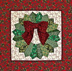 #Dresden Christmas wreath #quilt