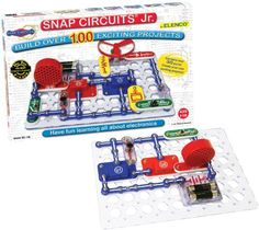 Snap Circuits Jr. SC-100 Kit - Dr. Toy 100 Best Children's Products award, Snap Circuits Jr. comes with easy-to-follow directions that help you snap together a variety of intriguing experiments. #Best Seller in Physics Science Kits
