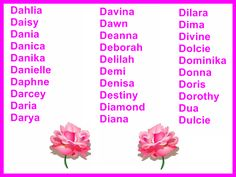 Lady Toddler Names Beginning With D Numerology