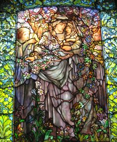 Madonna of the Flowers ~ This was taken the Arlington Street Church in Boston. The church has 18 Tiffany stained glass windows, which were installed between 1898 and 1933. This particular window was installed in 1899.