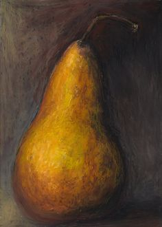 Pear Oil Pastel Painting
