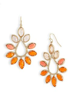 burnt orange earrings     Re-Pinned by: http://high5collegeclub.com