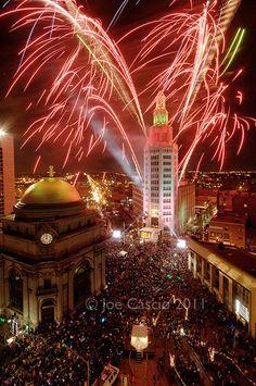 New Years Eve Ball Drop and Electric Tower ~ Buffalo NY photo by Joe Cascio