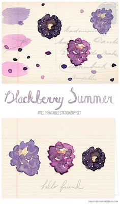 Free Printable Summer Berries Stationery Set | Creature Comforts Blog