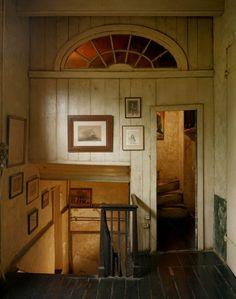transom windows, stair, hallway
