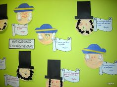 Paper plate craft (George Washington & Abe Lincoln)