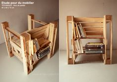 Pallets & Bookcases chair #Chair, #Design, #Furniture, #Pallets