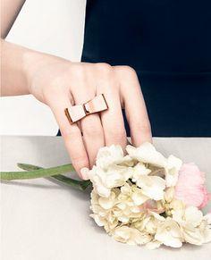 bling, bridesmaids, fashion, accessori, ribbon bows, accesori, wearable art, ribbon ring, bow ring