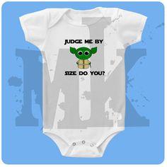 Yoda Star Wars baby onesie by muddykids on Etsy, $10.00