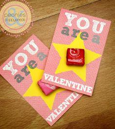 Starburst Valentine Printables