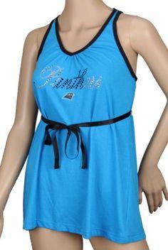 NFL Carolina Panthers Field Flirt Womens Tunic Top, Blue « Clothing Impulse