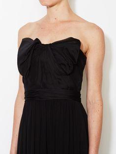 Silk Chiffon Bow Front Gown from Carolina Herrera