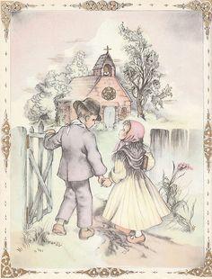 Vintage Masha Children's Book Illustration by vintagegoodness, via Flickr