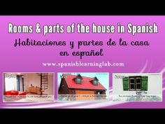 Rooms & parts of the house in Spanish (phrases + adjectives + audio). Learn how to talk about rooms and parts of the house in Spanish. This video shows several pictures and phrases related to the vocabulary about houses in Spanish and their description. You will also find some interesting notes about Spanish adjectives, Spanish possessive adjectives and a few other important things in the language.