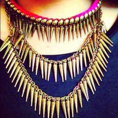 Neon and Spike Necklaces