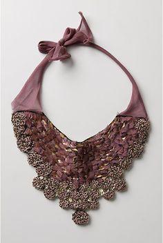 Wearable art: re-vintage necklace