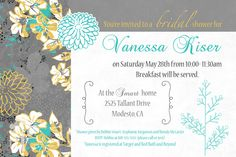 The bridal shower invite... front