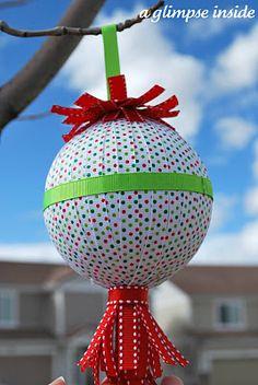DIY::ribbon ornaments