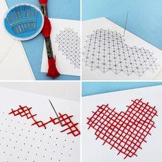DIY Cross-Stitch Valentine's Day Card!