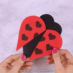 Learn how to make a simple Heart Ladybug Craft, a project that's fun to make and makes for a super adorable DIY Valentine's day card.