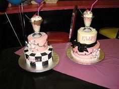 50's themed birthday cakes