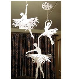Paper snowflake ballerinas