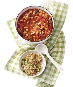 White Bean Chili With Jalapeño Bulgur