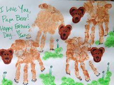 Papa Bear loves bears the best! #handprintart