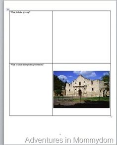 Free 5 page printable on Texas State Symbols and The Legend of the Bluebonnet