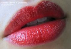 Arbonne Strawberry Lipstick reviewed at Lipstalker.com - http://www.lipstalker.com/arbonne-lipstick-in-strawberry-review-swatch/