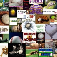 Softball collage
