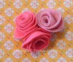 great felt flowers paper craft, rose felt, hair clips, felt rose, craft idea, roses, papers, wreaths, felt flowers