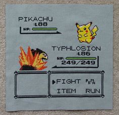 Pokemon Cross stitch