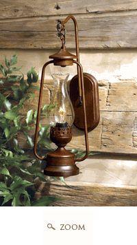 Rustic Lantern Wall Scone