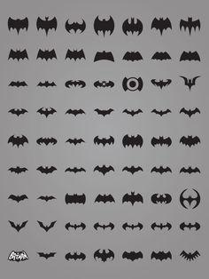 All the many Bat-emblems.