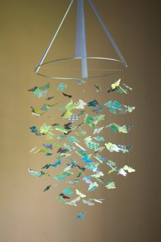 butterfly mobile kit.  another great etsy site with so many cute mobiles.  so much nicer than the typical plastic ones!
