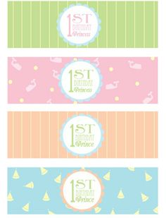 1st birthday party Printables.